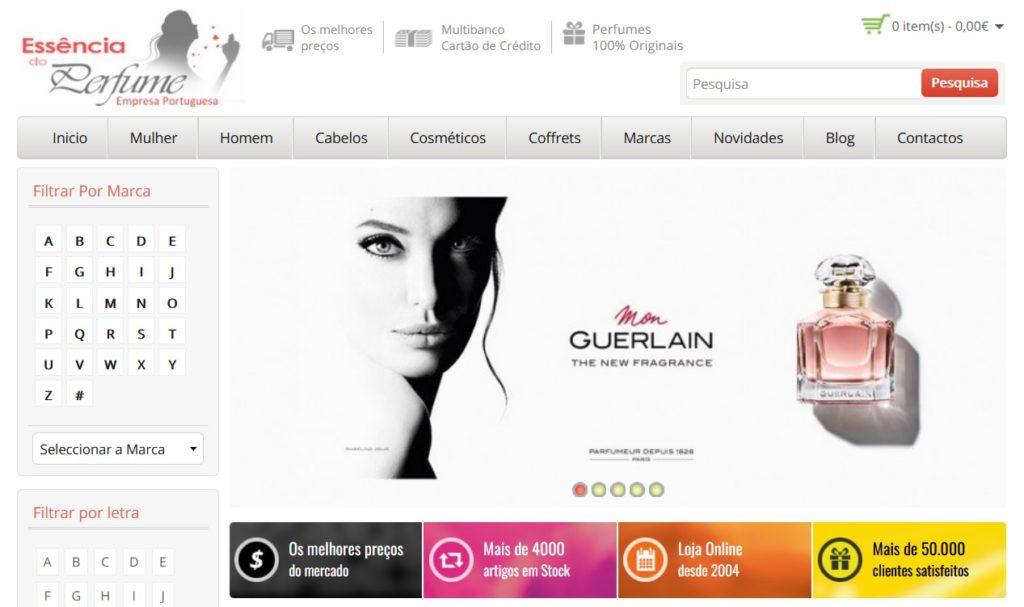 principais lojas de venda de perfumes em Portugal