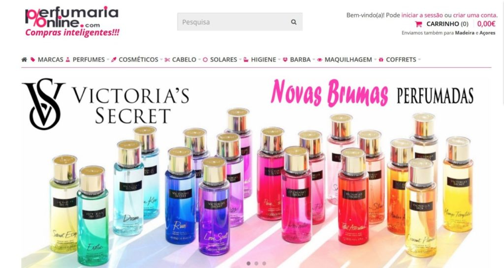 venda de perfumes em Portugal